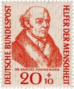 Hahnemann auf Briefmarke