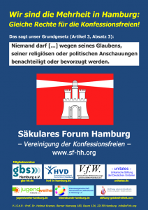 Plakat des Säkularen Forums