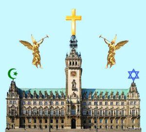 Rathaus mit Engeln